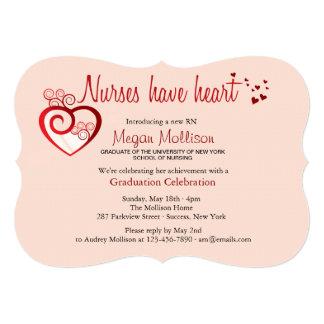 Nurses Have Heart Graduation Invitation