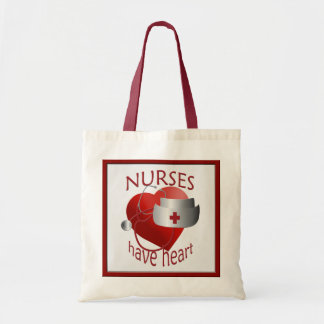 Nurses Have Heart Nurse Budget Tote Bag