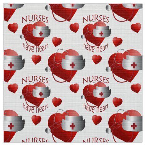 Nurses Have Heart Nurse Fabric