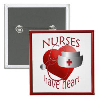 Nurses Have Heart Nurse Square Button