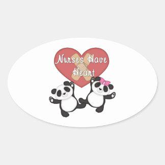 Nurses Have Heart Oval Sticker