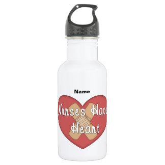 Nurses Have Heart (personalized) Water Bottle