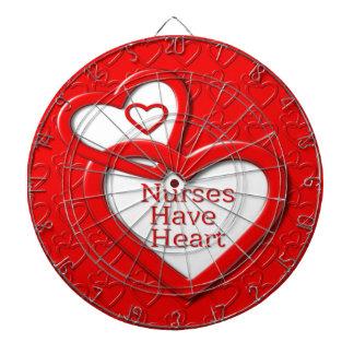 Nurses Have Heart Red Hearts Dart Boards