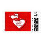 Nurses Have Heart Red Hearts Stamp