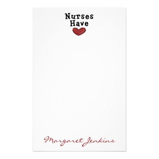 Nurses Have Heart Stationery by SharonRhea