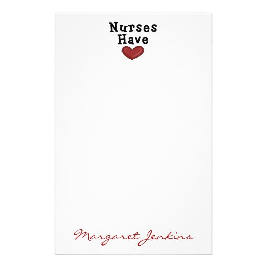 Nurses Have Heart Stationery by SharonRhea