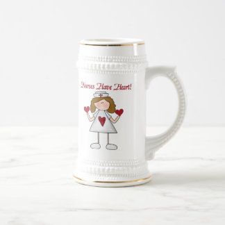 Nurses Have Heart T-shirts and Gifts Beer Stein