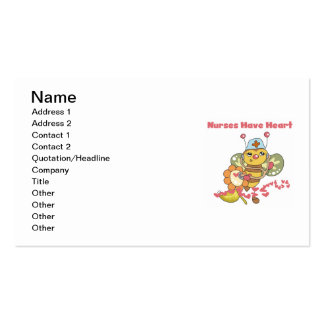 Nurses Have Heart T-shirts and Gifts Business Card