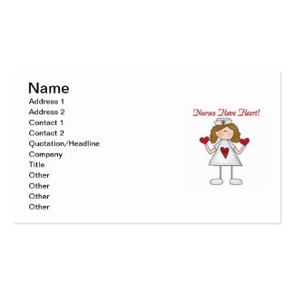 Nurses Have Heart T-shirts and Gifts Business Card Templates