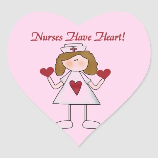 Nurses Have Heart T-shirts and Gifts Heart Sticker