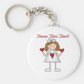 Nurses Have Heart T-shirts and Gifts Key Chain