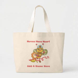 Nurses Have Heart T-shirts and Gifts Large Tote Bag
