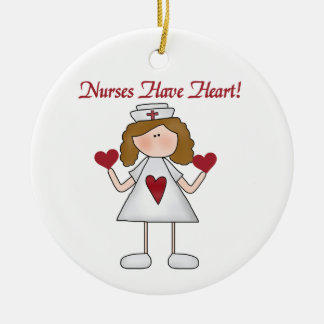 Nurses Have Heart T-shirts and Gifts Christmas Ornaments
