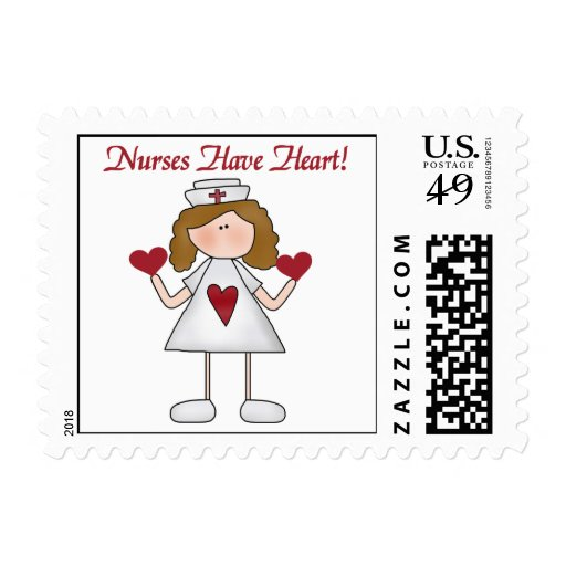 Nurses Have Heart T-shirts and Gifts Stamps