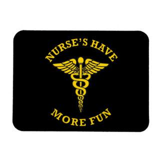 Nurse's Have More Fun Caduceus Rectangular Photo Magnet