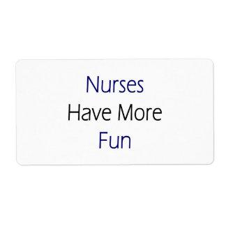 Nurses Have More Fun Shipping Label