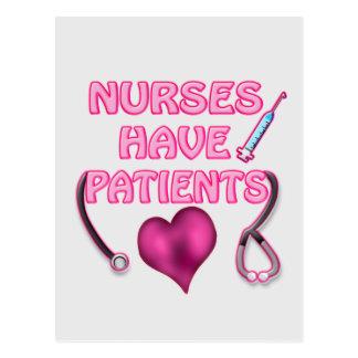 Nurses have Patients! Postcards