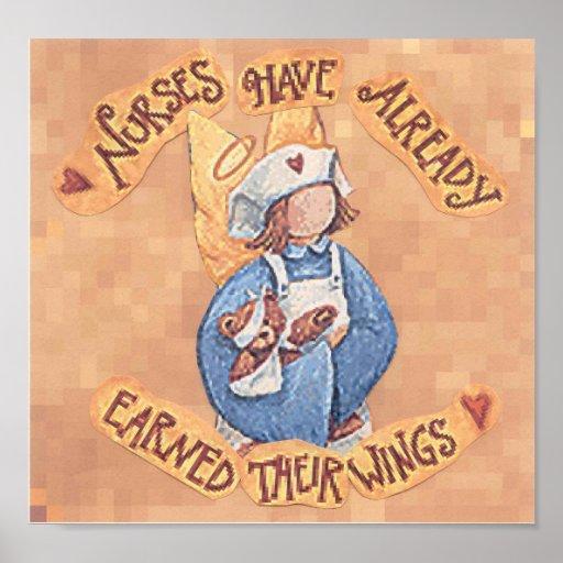 nurses have wings poster