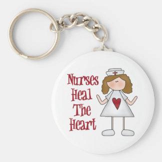 Nurses Heal The Heart Keychain