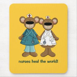 Nurses heal the World Gift Mousepad