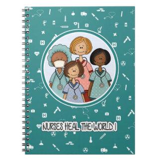 Nurses heal the World. Gift Notebooks