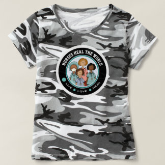 Nurses Heal the World. Gift T-Shirts