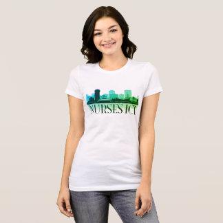 Nurses ICT Skyline (Multi-greens) T-Shirt