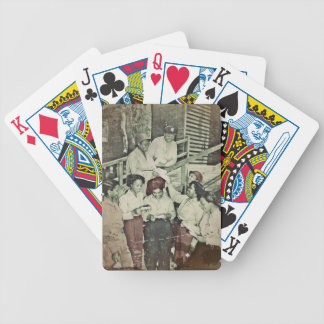 Nurses in the SW Pacific Getting Mail Bicycle Playing Cards