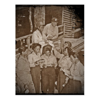Nurses in the SW Pacific Getting Mail Postcard