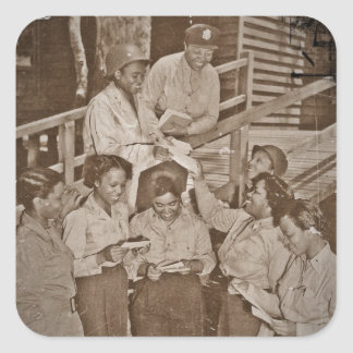 Nurses in the SW Pacific Getting Mail Square Sticker