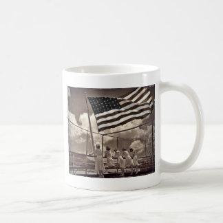 Nurses Looking at an Island 1945 Classic White Coffee Mug