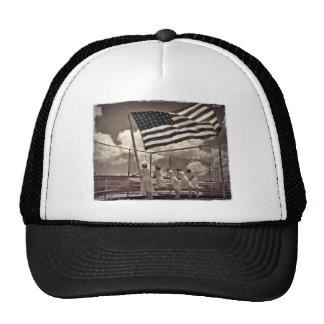 Nurses Looking at an Island 1945 Hats