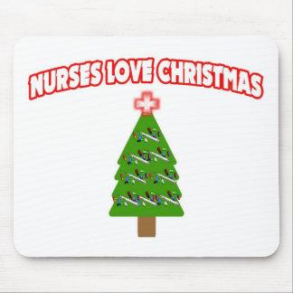 Nurses Love Christmas Mouse Pad