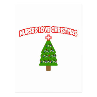Nurses Love Christmas Postcard