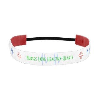 Nurses Love Healthy Hearts Athletic Headband