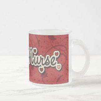 Nurses Love Hug a Nurse 10 Oz Frosted Glass Coffee Mug