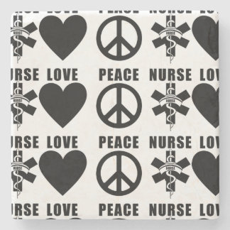 Nurses Love Peace Stone Coaster