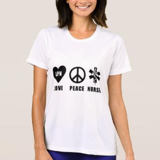 Nurses LPN Love Peace Nurse T-Shirt