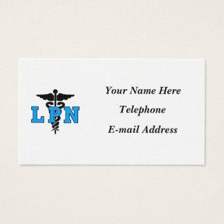 Nurses LPN Medical Symbol Business Card