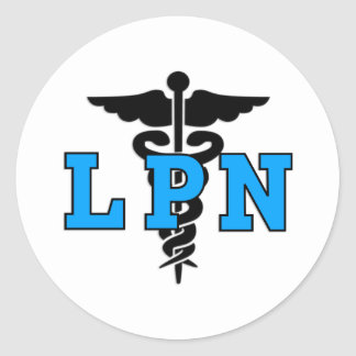 Nurses LPN Medical Symbol Classic Round Sticker