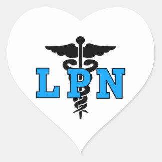 Nurses LPN Medical Symbol Heart Sticker