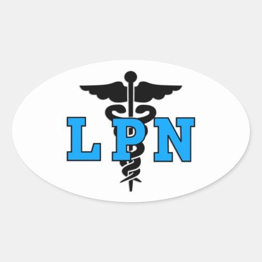 Nurses LPN Medical Symbol Oval Sticker