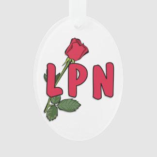 Nurses LPN Rose Ornament