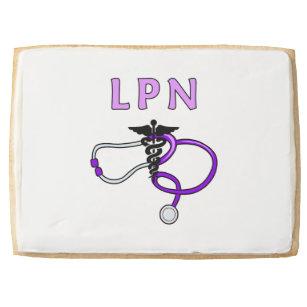 Nurses LPN Stethoscope Shortbread Cookie