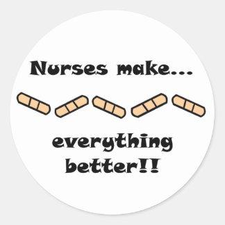 Nurses Make EVERYTHING Better Classic Round Sticker