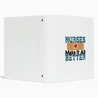 Nurses Make It All Better 3 Ring Binder