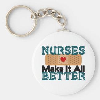 Nurses Make It All Better Basic Round Button Keychain