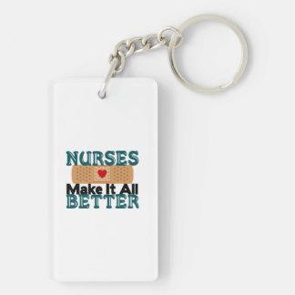 Nurses Make It All Better Double-Sided Rectangular Acrylic Keychain