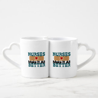Nurses Make It All Better Couples' Coffee Mug Set