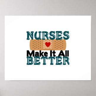 Nurses Make It All Better Poster